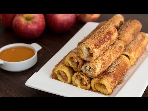 Ρολά με ψωμί του τοστ γεμιστά με μυρωδάτα μήλα (Video) | Συνταγές - Sintayes.gr