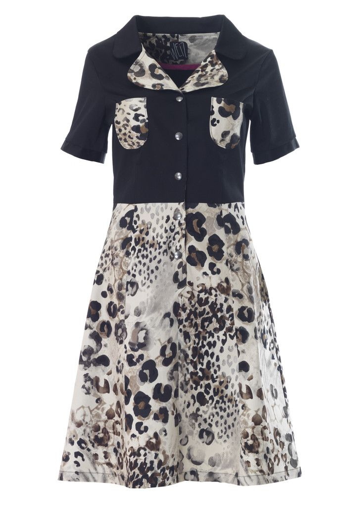 Weiz black leopard Loretta dress DKK 1300,-