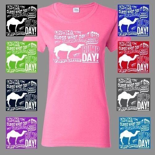 Women'S Hump Day T-Shirt Guess What Day Funny Camel Commercial Tee