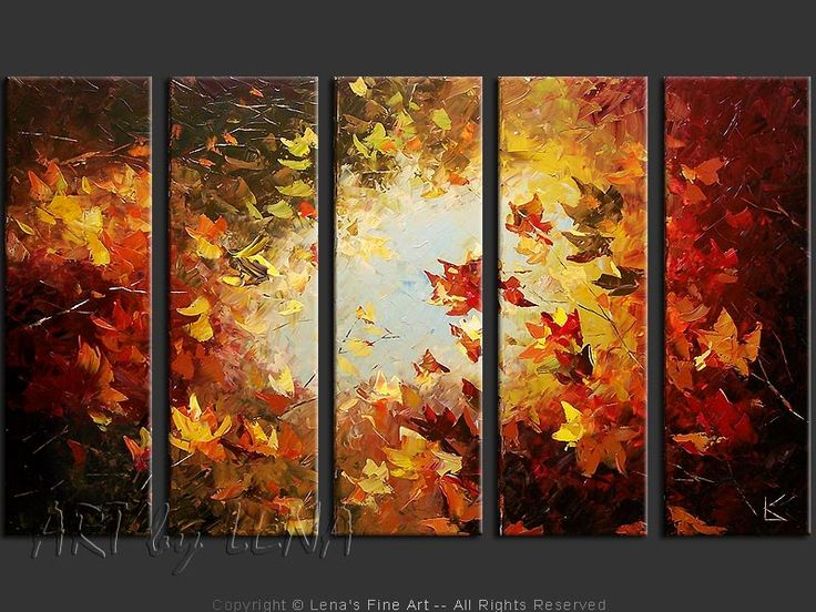 Buy from artist direct: original canvas painting by Lena Karpinsky - Maples and Sky.