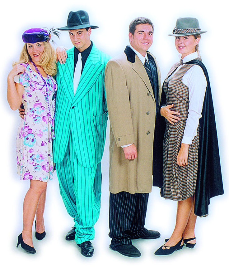 Lilly, Rooster, Mr. Warbucks and Grace Costumes - Annie Rental from $39-53 per costume