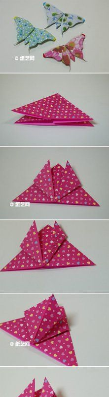 how to make butterfly with paper step by step