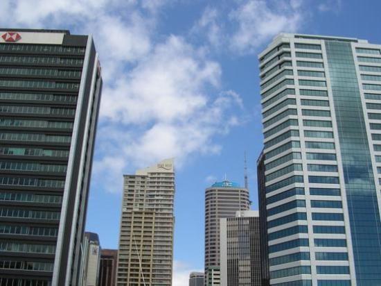 Skyscrapers in Auckland