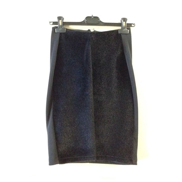 reduced new h m fur paneled pencil skirt pencil skirt