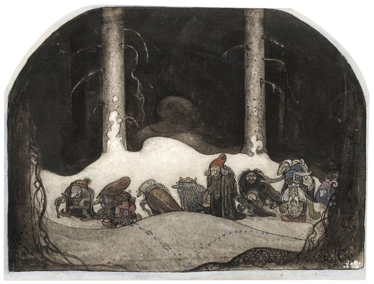 John Bauer - I julnatten (Christmas night) 1913