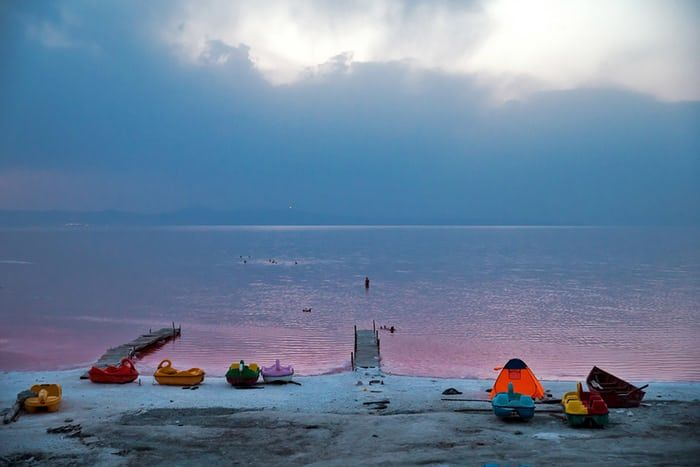 Iran - Lake Urmia - Hopes for the salt lake's survival have been revived after rainfall boosted a government programme aimed at preserving it before it dries up