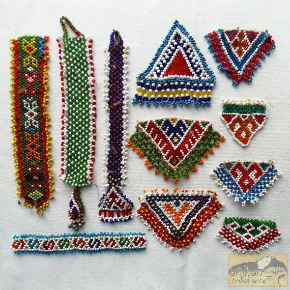 Vendimia Tribal talismán: Kuchi cuentas remanente amuleto/Patch Set #25