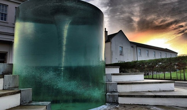 Gallery charybdis water vortex sculpture by william pye at seaham hall hotel sunderland