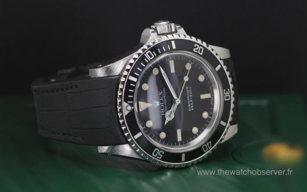 Rolex Submariner vintage sur bracelet alligator noir mat Radium Concept - prix, photo