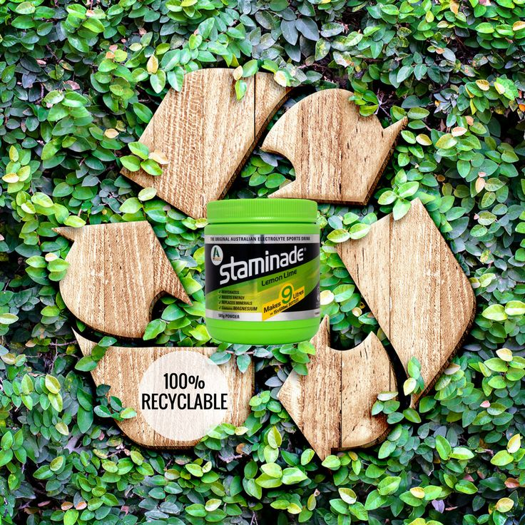 Reduce, Reuse, Recycle. Staminade is 100% recyclable - even the scoop!