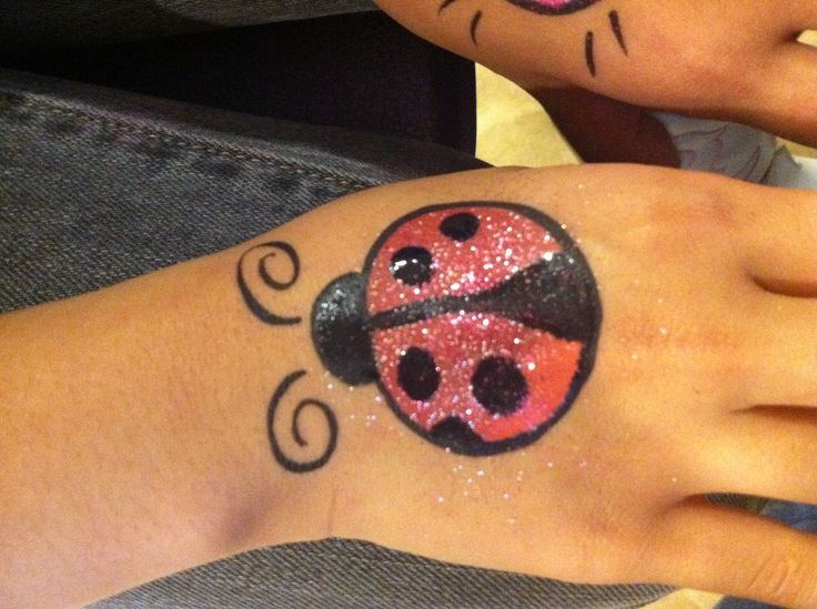 glitter lady bug beetle bird face paint cheek art design face painting cheek art pinterest. Black Bedroom Furniture Sets. Home Design Ideas