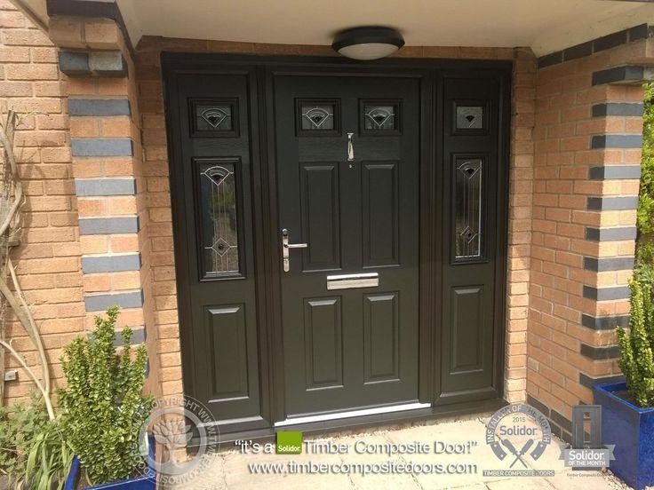 black composite georgian front doors side panels - Google Search