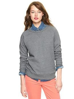Terry sweatshirt | Gap: Terry O'Neil, Gap Terry, Com Gap Include, Cotton Pullover, Do You, Gap Cotton, Woman Clothing, Terry Sweatshirts, Pullover Sweatshirts