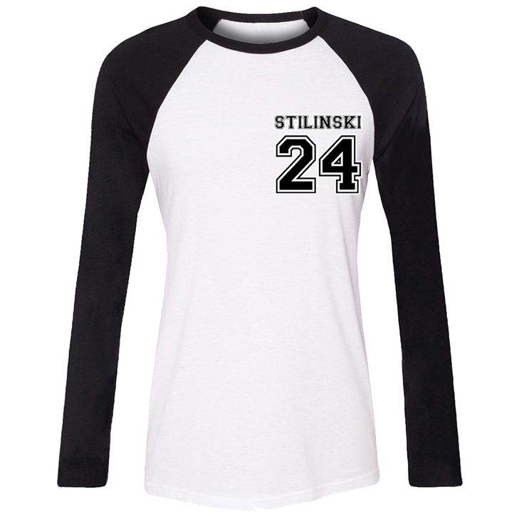 Stiles Stilinski No.24 Teen Wolf Lacrosse Vacation Girls T shirt For Women long sleeves Tops Creative Print Tee Cosplay costume