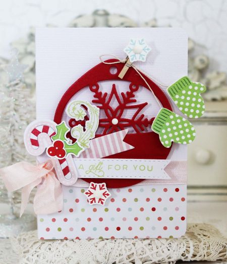 A Gift For You Card by Melissa Phillips for Papertrey Ink (November 2016)
