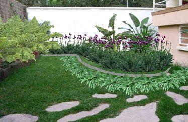 Dise o de jardines para casas modernas buscar con google for Casas rusticas con jardin
