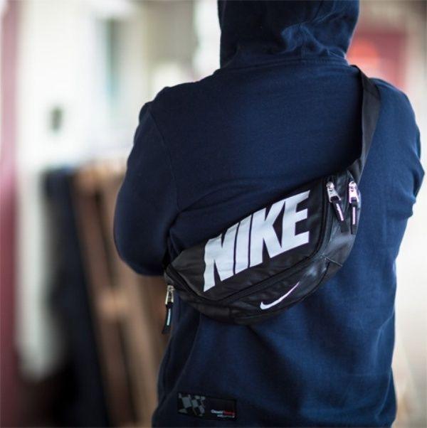 Nike original team training waistpack gym small cycle bag backpack Black NEW  #Nike