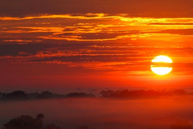 Sunset over the Colombian Amazon