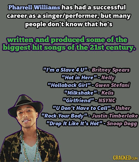 And don't forget that song where Robin Thicke wears a Beetlejuice suit and grinds Miley Cyrus.