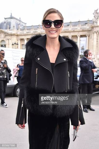 Olivia Palermo is seen arriving at Elie Saabfashion show during the Paris Fashion Week Womenswear Spring/Summer 2018 on September 30 2017 in Paris...