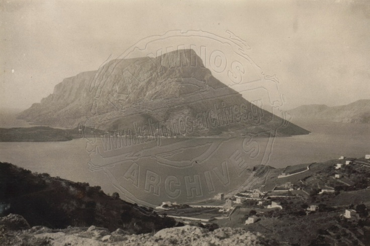 An old photo of Telendos islet.http://www.kalymnos-archives.gr/