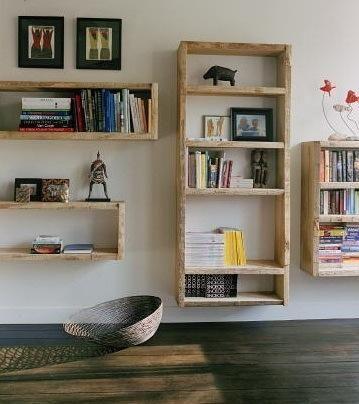 Exposed Wood Bookshelves Taverne Agency