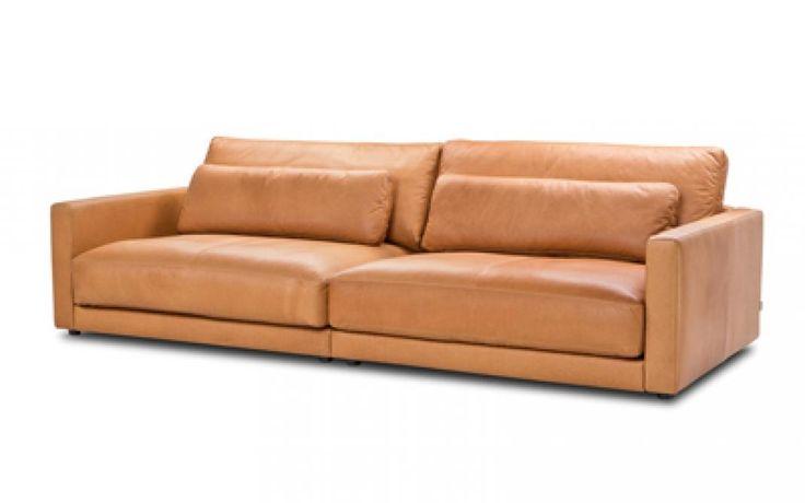 Sitzfeldt: 3-Sitzer Chuck, Leder Pur, hellbraun (Bild 2)