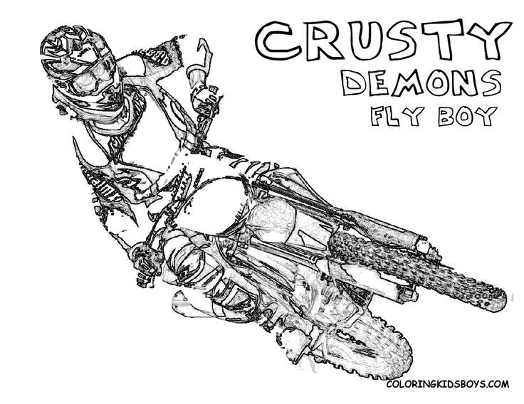 343 best coloring pages images on pinterest | coloring books ... - Dirt Bike Coloring Pages Print