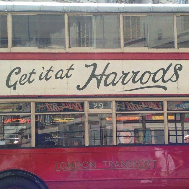 More lovely #bus #type! #regentstreet #buscavalcade #london #harrods #vintage - Shacamole