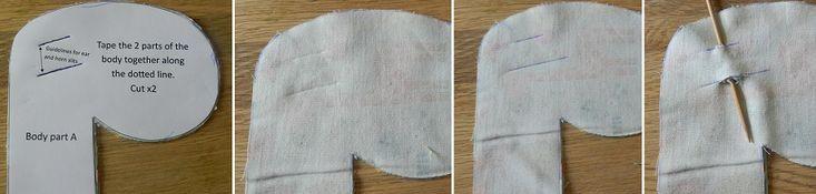step slits for ears giraffe soft toy free tutorial pattern riley blake giraffe crossing