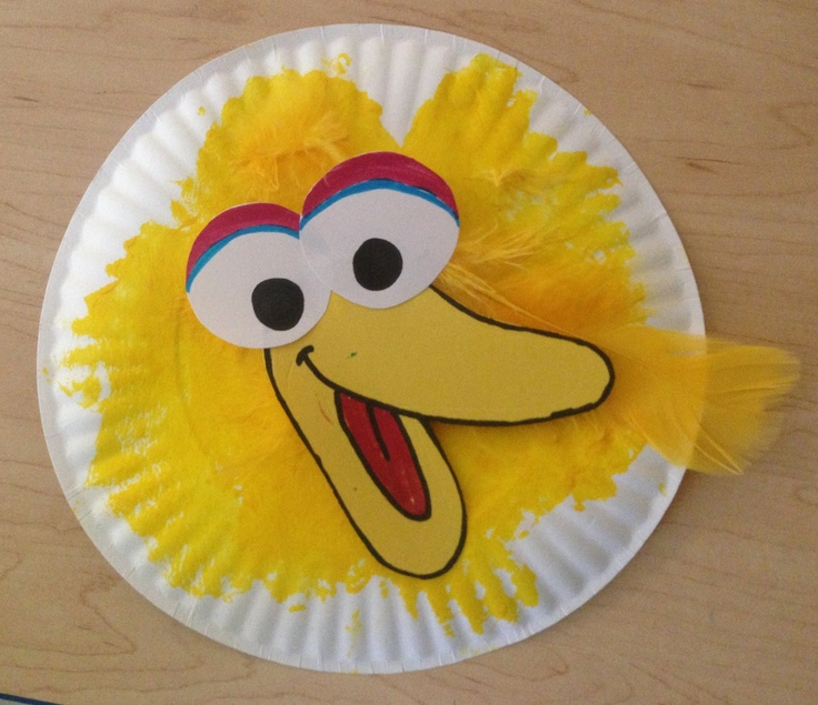 Paper plate big bird wicked crafty