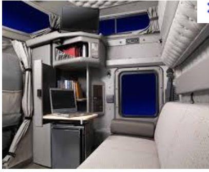 Kenworth W900 Interior Sleeper Area.. | truck sleepers ...