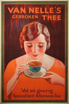 Affiche: Van Nelle's Gebroken thee – anoniem – ca. 1925