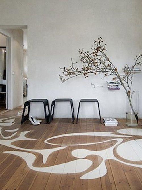 20 impresionantes suelos pintados y cómo conseguirlos