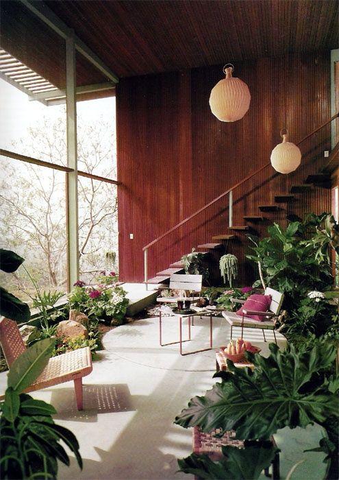Knauer House, Los Angeles, 1954. Architect Rodney Walker. Photo by Julius-Shulman.