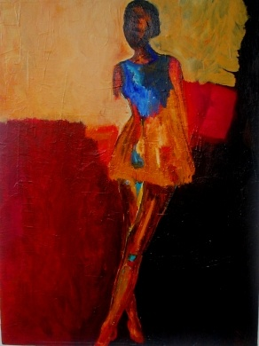 Love the abstract female figure.  Look at Me by Haydee Torres.