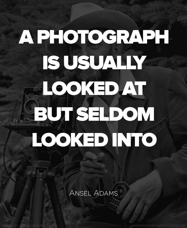 Ansel Adams Quote #Photography #Quote