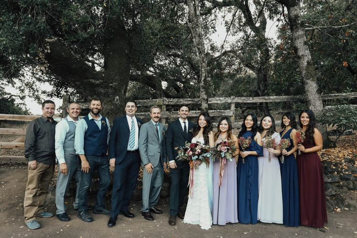 Fall Bridal Party Colors - Sonoma, California  Aspen Jeanne Photography