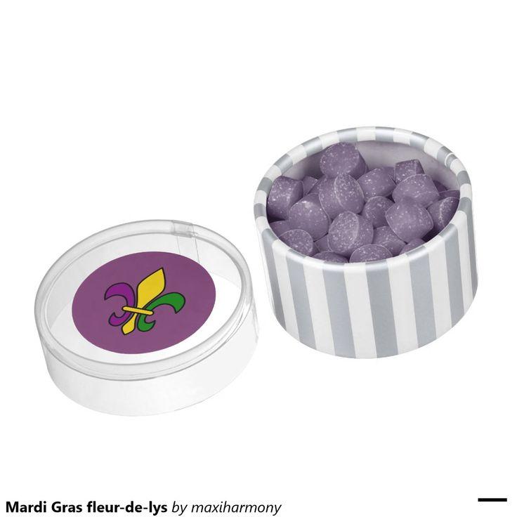 Mardi Gras fleur-de-lys Chewing Gum Favors