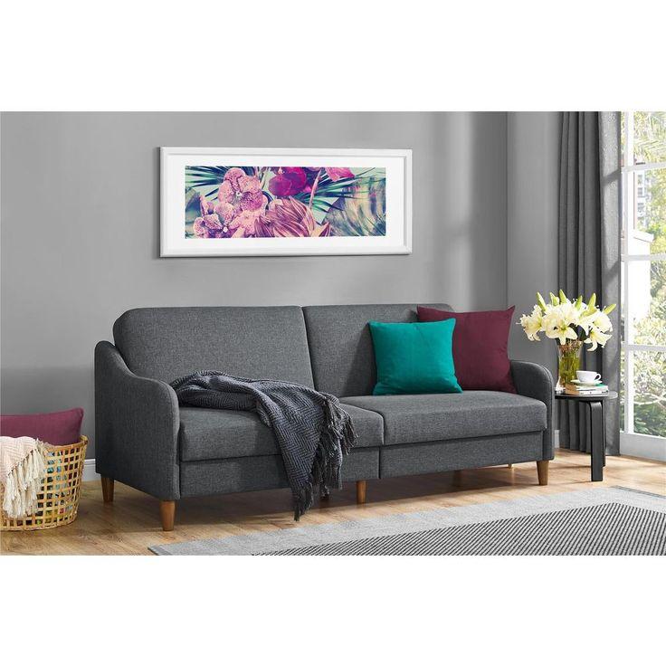DHP Jasper Grey Linen Convertible Sofa Futon   living room  family roomBest 25  Futon living rooms ideas on Pinterest   Cushions for  . Futon Living Room Set. Home Design Ideas