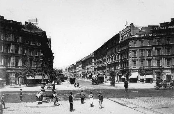 budapest 1890 | Az Oktogon és a Teréz körút a Nyugati pályaudvar felé az 1890-es ...
