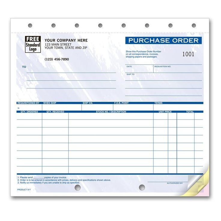 Best Purchase Order Forms Images On   Purchase Order