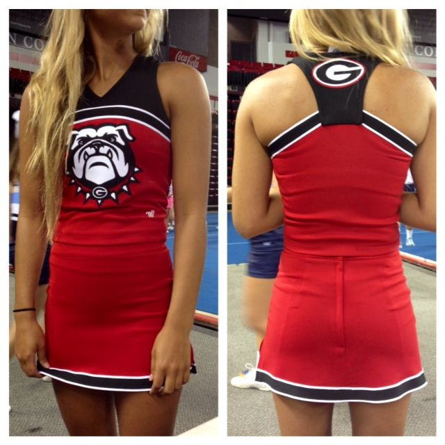 The Georgia Bulldogs are ready to #PowerUp their sidelines this season in their brand new Varsity #Powerfit uniforms! Aren't they fabulous? Call your local Varsity rep today to see and FEEL the Powerfit difference!