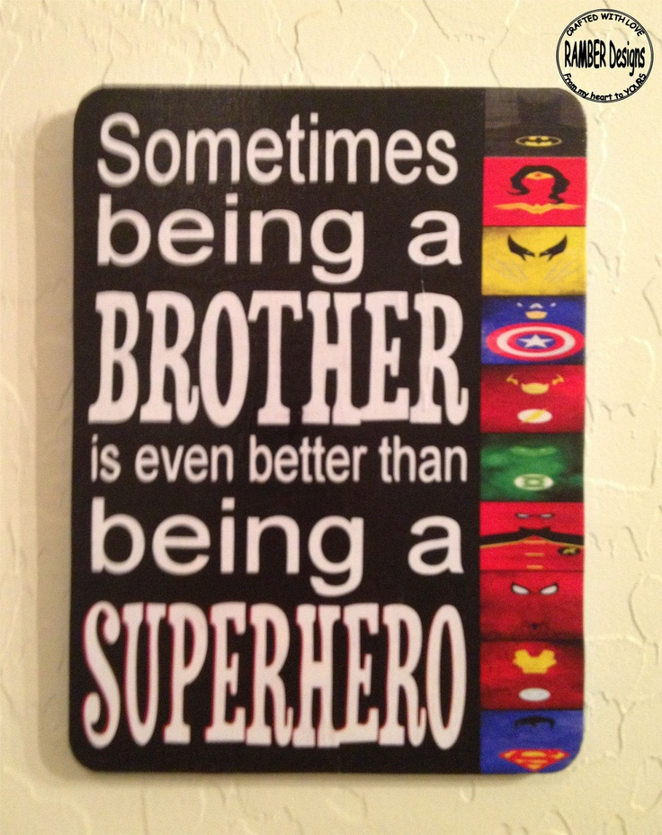 Brother - Superhero Room Art. $20.00, via Etsy.