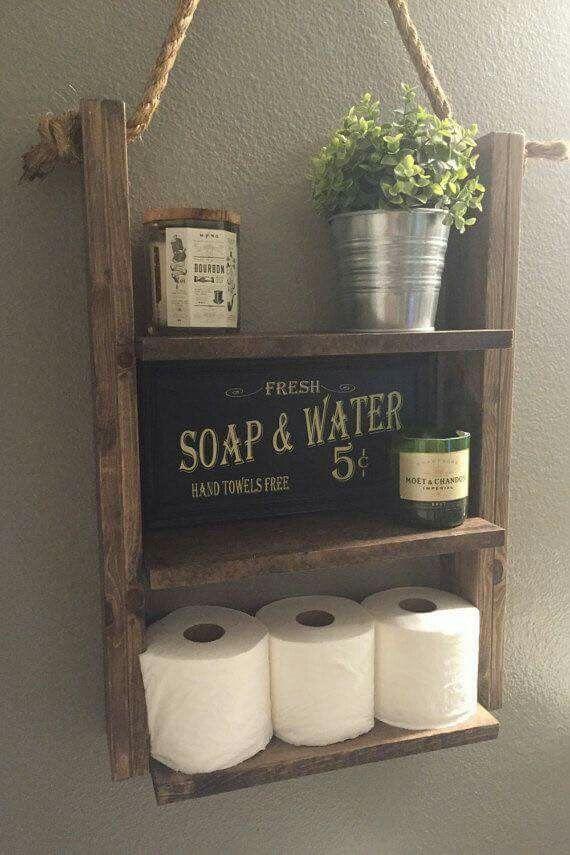 Shelf For Downstairs Bathroom Rustic Powder Roompowder