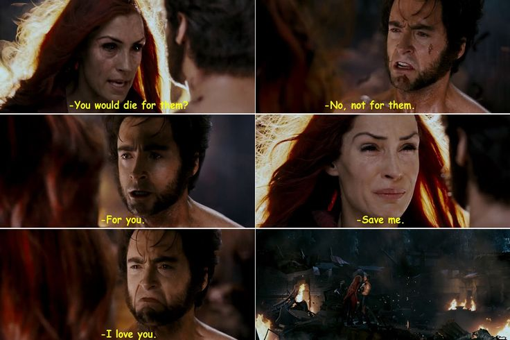 X-Men: the last stand. Saddest moment of the movie! Jean and Logan.