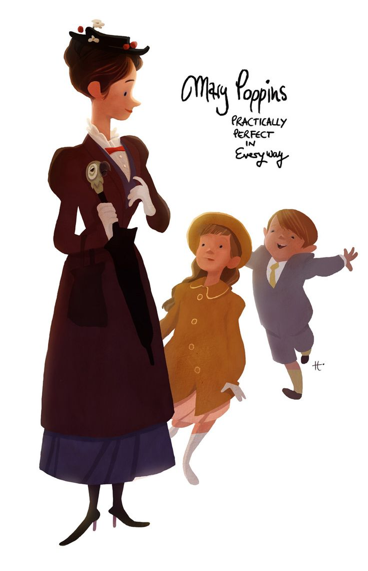 'Mary Poppins' illustrated by Uwe Heidschötter