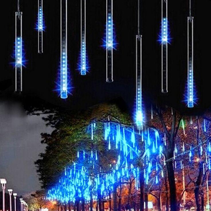 HOTOOK многоцветные Гирлянды светодиодные свет 50 см 240led Метеоритный дождь Дождь трубки Рождество огни Свадебная вечеринка сад 8 шт./компл.