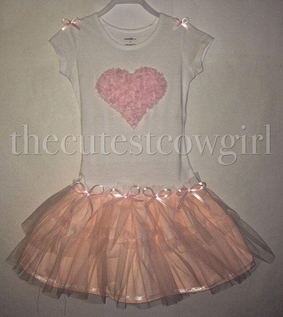 Girls Heart Tutu Ballerina Dress 0 3 6 12 18 by TheCutestCowgirl