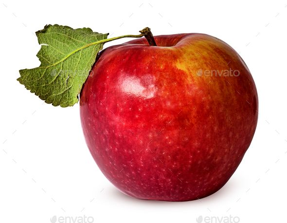 In front red ripe apple with green leaf - Stock Photo - Images Download here : https://photodune.net/item/in-front-red-ripe-apple-with-green-leaf/18751937?s_rank=48&ref=Al-fatih